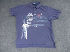 Vintage Polo Ralph Lauren Mens XL England Cricket Game Rugby Shirt #5 Navy