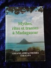 Mythes, rites et transes à Madagascar Jaovelo Dzao - Rare 1996 Ethnies religion