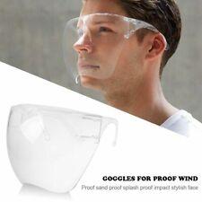 Reusable Face Shield Facial Protective Cover Clear Glasses Visor Guard Anti-Fog