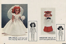 """7.5""""-21"""" Vintage 1956 Master Multi-Doll Clothes Patterns & Article"""