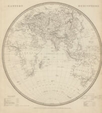 EASTERN HEMISPHERE Europe Africa.Mountains of Kong.Asia Australia SDUK 1844 map