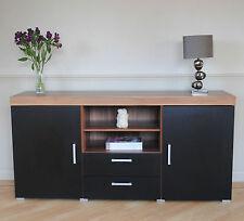 Large Black Sideboard 2 Drawer 2 Door Storage Cupboard Cabinet Living Room