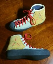 Rare Vintage Eb Gratton Climbing Shoes Women's Sz 4 - Custom Nancy Drews Shoes!