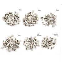 20PCS Nickel Binding Chicago Screws Nail Rivets Album Craft 5x6mm Use YF