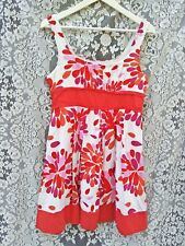Portmans size 10 beautiful red and white sun dress,cotton lining