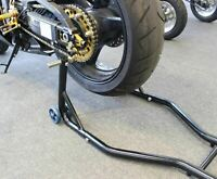 NEW Motorcycle Motorbike Rear Stand Paddock Race Lift Under Fork Bike Holder