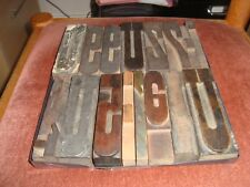 Wooden Letterpress Type, French (1)