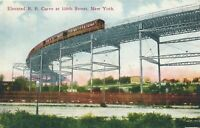 NEW YORK CITY - Elevated Railroad Curve at 110th Street