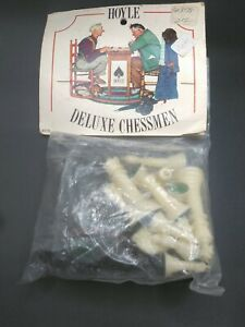 New Vintage Chess Replacement Pieces Hoyle Deluxe Chessmen 8178 Norman Rockwell