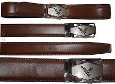 Men's belt Leather Dress Belt Click Comfort Automatic Lock Eagle Buckle up to 43
