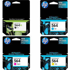 4 PACK HP GENUINE 564XL Black & 564 Color Ink PHOTOSMART D5460 D7560 C309A