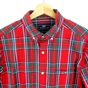 Vineyard Vines Classic Fit Tucker Mens button down shirt size M Plaid checks
