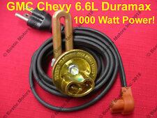 Duramax Block Heater 1000w GM Chevy 6.6 L Diesel Silverado 2500 3500 Solid Brass