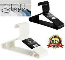 Plastic Hangers Premium Suit Clothes Coat Hangers Shirt White Black Heavy Duty