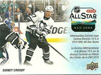 2019-20 UD Tim Hortons All-Star Sidney Crosby - Pittsburg Penguins