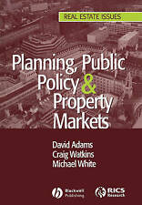 Planning, Public Policy and Property Markets (Real Estate Issues)-ExLibrary