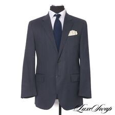 Polo Ralph Lauren Made in Italy Midnight Herringbone Dashed Pinstripe Suit 52 R