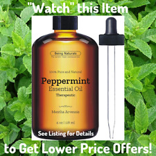 Peppermint Essential Oil - 4 oz THERAPEUTIC GRADE Aromatherapy Insect Repellant