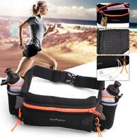 Women Men Running Belt Waist Hydration Pack Fanny Pouch Phone Bag Water Bottle