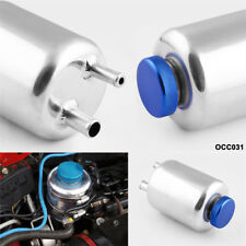 Car Auto Engineering Racing Power Steering Fluid Breather Tank Aluminum Silver