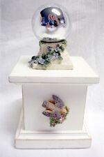 Garden Terrace Wood Trinket Box with Bird and Silver Globe New