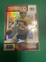 AARON RODGERS (Green Bay Packers) 2019 SCORE THROWBACKS INSERT CARD #T-3!🔥🏈