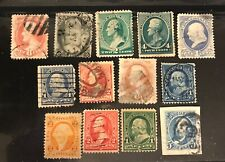 UNITED STATES postage stamps lot of 13 Presidents 1860's -1890's