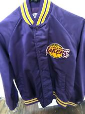 Vintage Los Angeles LA Lakers Purple Chalkline Bomber Jacket Small