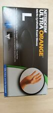 100 Ultra Orange Nitrile gloves NitriDerm Non-Sterile Powder-Free- Lg
