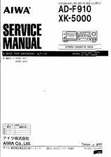 Aiwa Service Manual für AD- F 910  XK- 5000            .