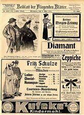 Kaiser Wilhelm Tropfen Kräuter Elexir Liqueur Eucalyptine Non- olet Apparat 1902