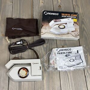 NEW Norelco Iron TI-65 Foldable Handle Stowaway Travel Dry Iron Vintage Dual V