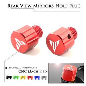 CNC M10x1.25mm Mirror-Hole Plugs Screws Caps for YAMAHA MT09 MT07 MT125 MT10 03