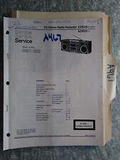 Magnavox az9020 az9025 service manual original repair book stereo boombox radio