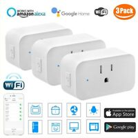 3X WiFi Smart Plug Works with Amazon Alexa - 3 prong Single Socket White USA