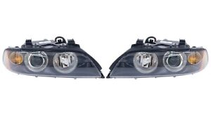 Set of Left & Right Genuine Xenon Headlights Lamp Amber Turn Signals for BMW E39