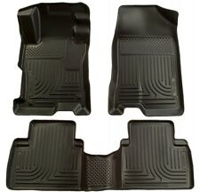 2012-2013 Honda Civic Husky WeatherBeater Front & 2nd Row Black Floor Liners