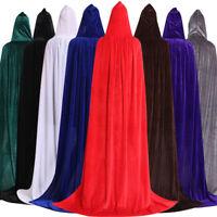 AU Men Women Hooded Cape Adult Long Cloak Halloween Costume Cosplay Dress Coat