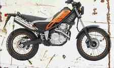 Yamaha Tricker XG250 2005 Aged Vintage SIGN A3 LARGE Retro