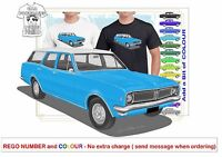 HG HOLDEN WAGON 70-71 CLASSIC ILLUSTRATED T-SHIRT MUSCLE RETRO SPORTS