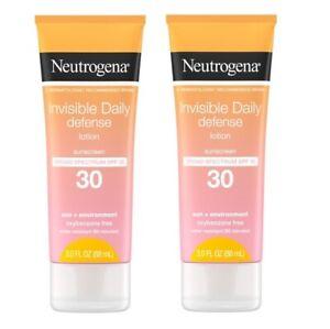 2 Neutrogena Broad Spectrum Sunscreen Lotion, SPF 30, 3.0 fl. oz