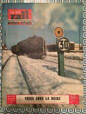 LA VIE DU RAIL n 437 du 7 Mars 1954 - Voies sous la Neige