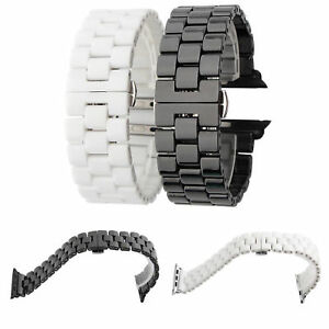 Ceramic Bracelet Straps Wristband 38/42/40/44mm For iWatch Band Series 6 5 4 3
