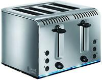 Russell Hobbs 20750 Buckingham Brushed Stainless Steel 4 Slice Slot Toaster