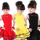 Girls Latin Salsa Dancewear Dress Kids Ballroom Performance Dancing Costumes