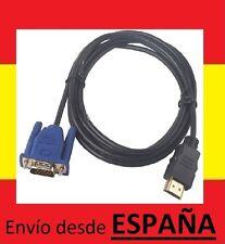 Cable VGA macho HDMI macho adaptador salida video RCA tv ordenador pc HDTV AV