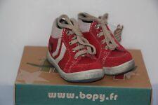 BOPY - Ziton  - Chaussures Basket bébé Mixte - Rouge - T 17 neuf