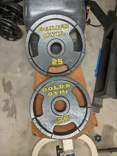 Gold's Gym 25 Lb Olympic weight plates, set of 2