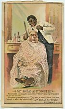 Black Barber Victorian Trade Card From Texas Siftings