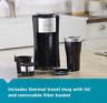 BLACK+DECKER Single Serve Automatic Coffee Maker Cup Brewer Coffee Brew Dripper